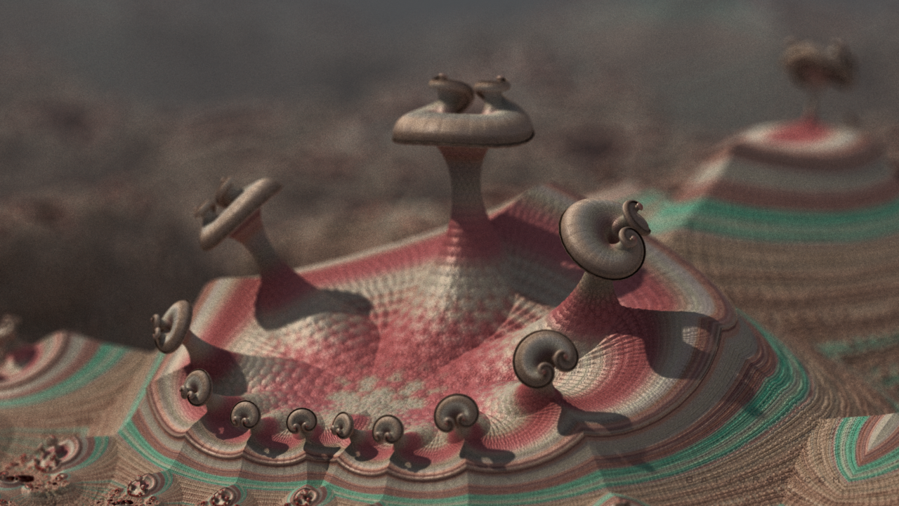 3d fractal. organic-alien like form