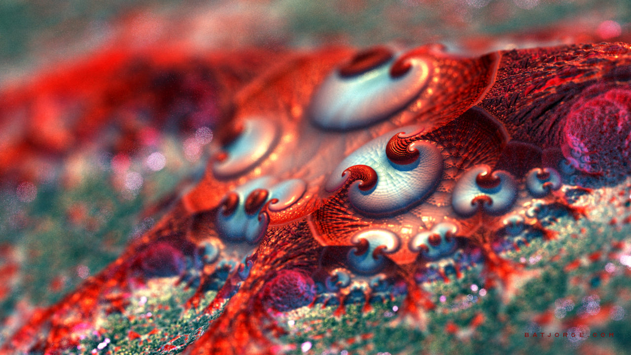 3d fractal.organic look. depth of field.