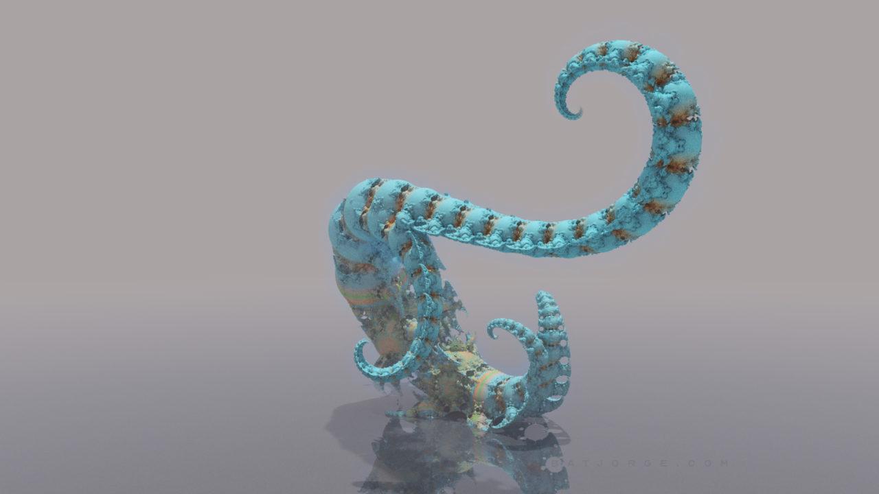 3d fractal. kleinian shape. tentacle