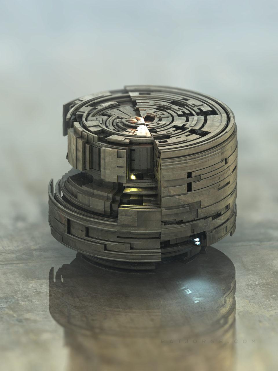 3d fractal modern round
