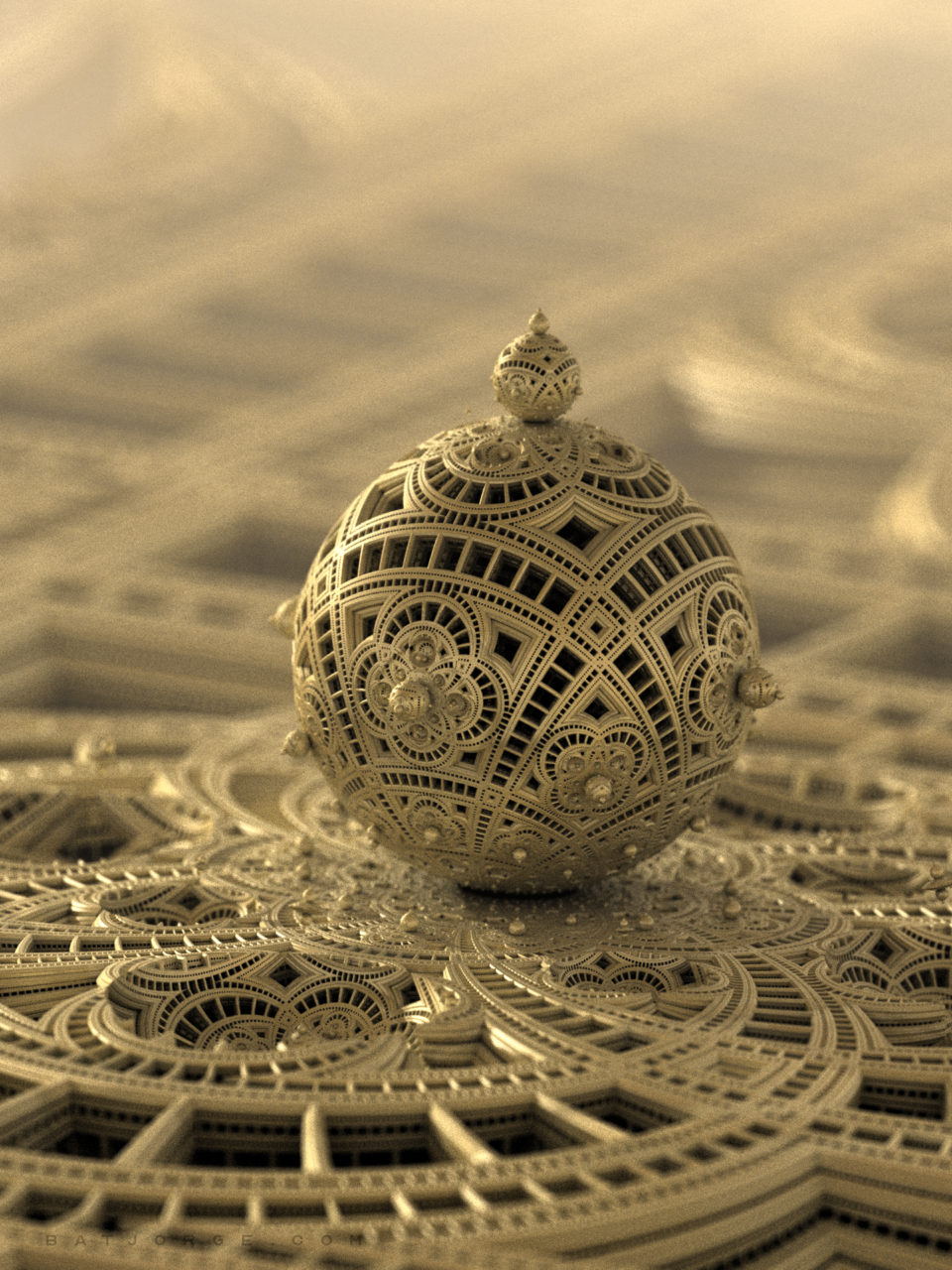 3d fractal. amazingbox bulb menger