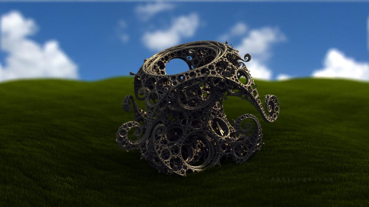 3d fractal. kleinian shape bliss prairie