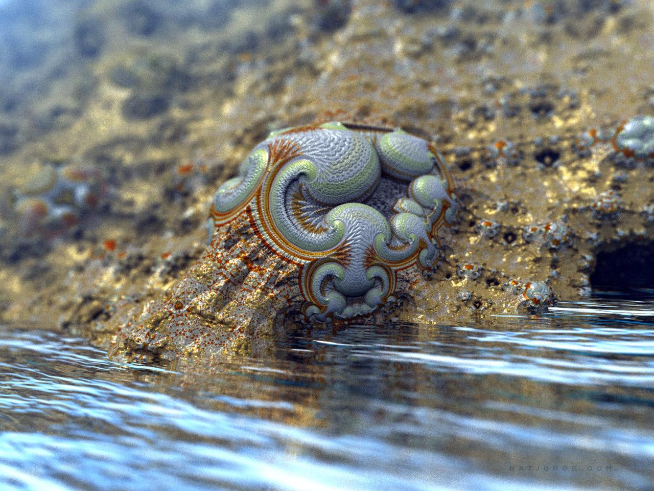 3d fractal. amazingsurf. organic water