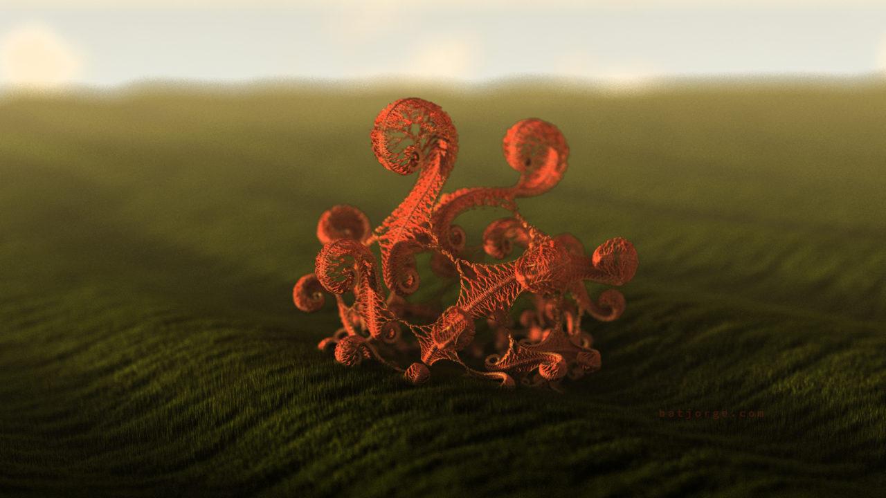 3d fractal. kleinian shape.