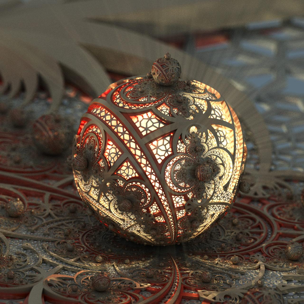 3D fractal orb. mandelbulb3d