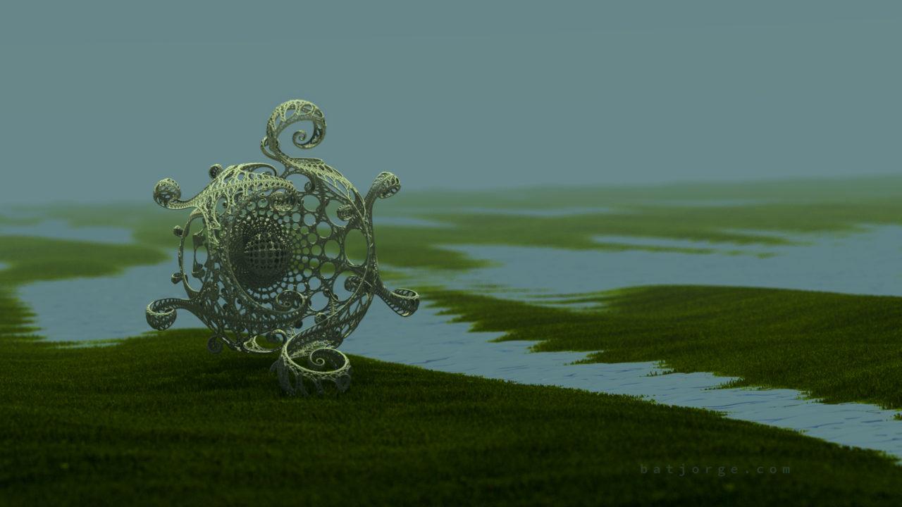 3d fractal. kleinian on tundra