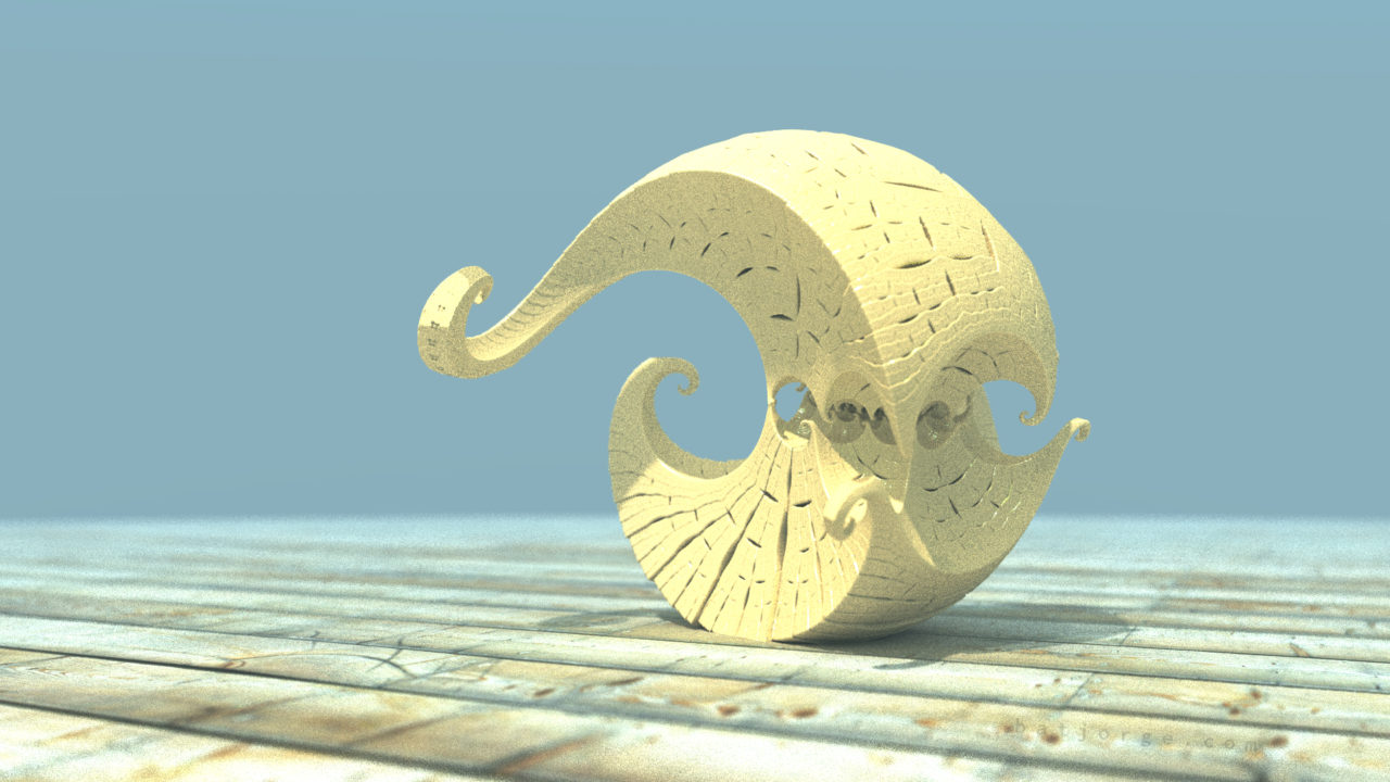 3D fractal orb. mandelbulber kleinian