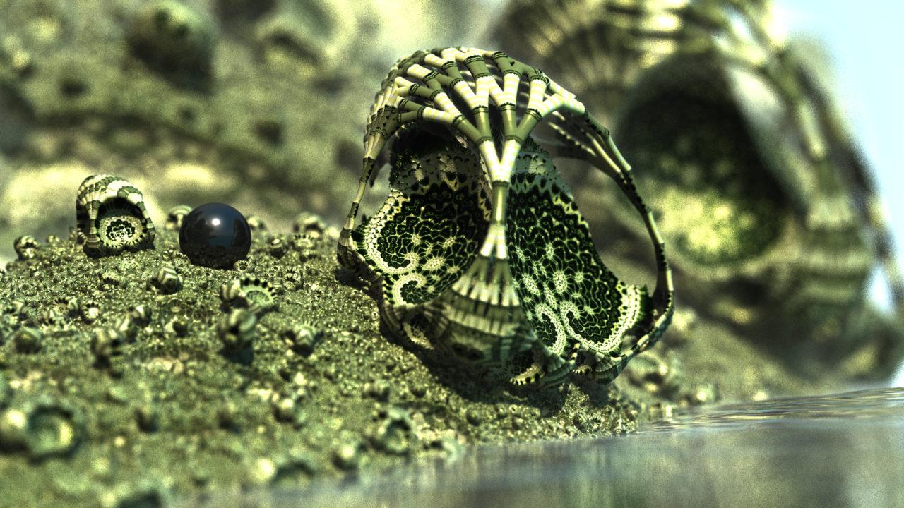 3D fractal orb. mandelbulber amazingsurf