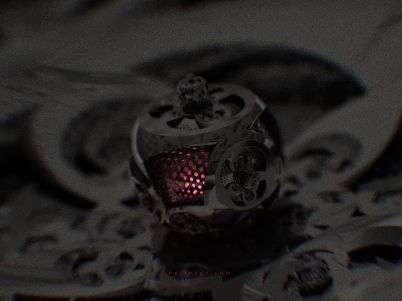 3D fractal orb. mandelbulber kleinian dark