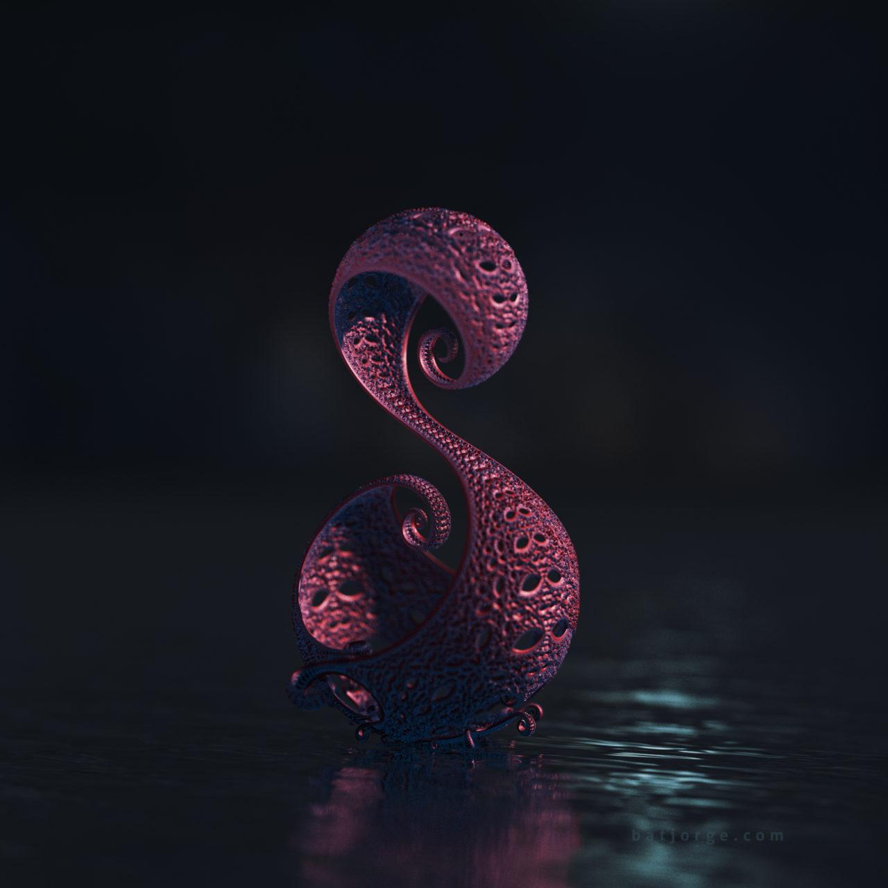 3d fractal. kleinian. water