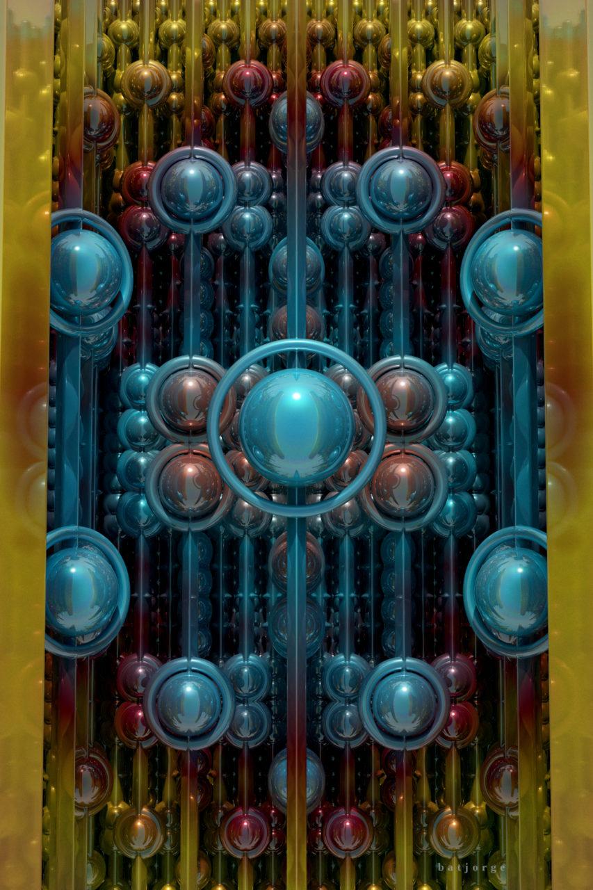 3d fractal dIFS spheres