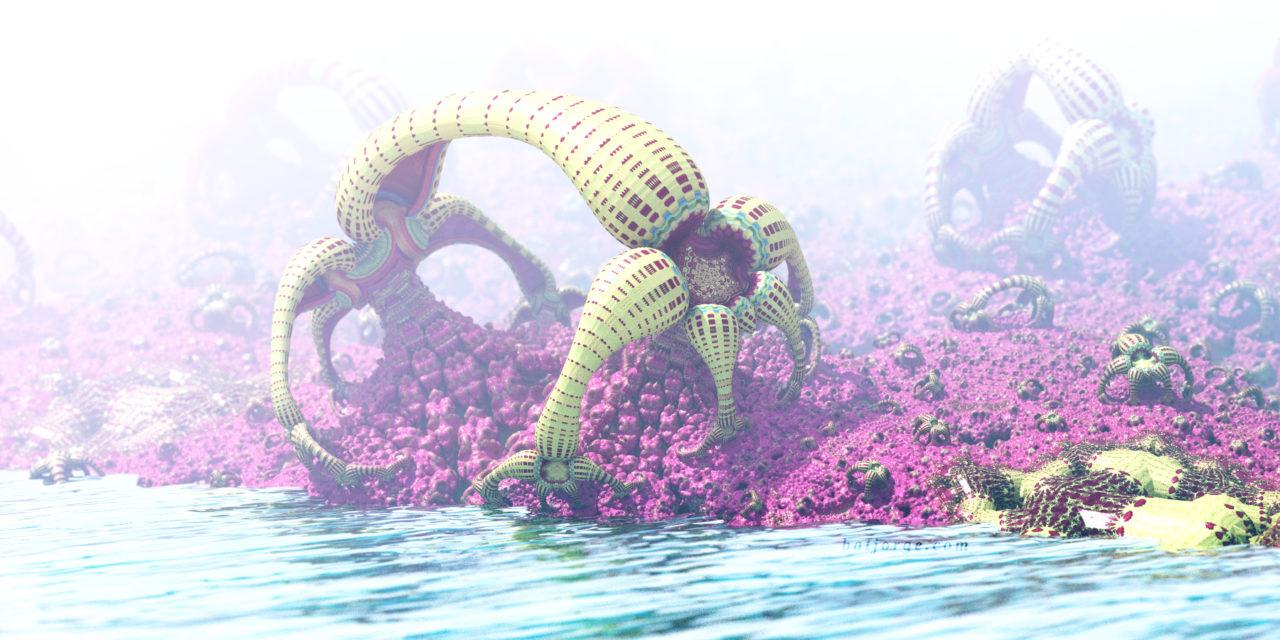 3D fractal. amazing surf formula. organic-like asurf
