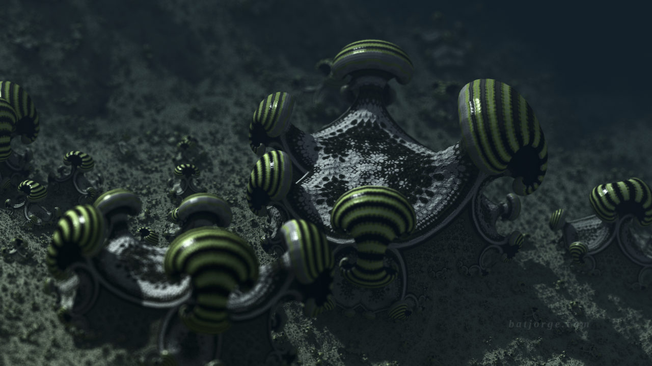 3D fractal. amazing surf formula. organic-like asurf. mushroom
