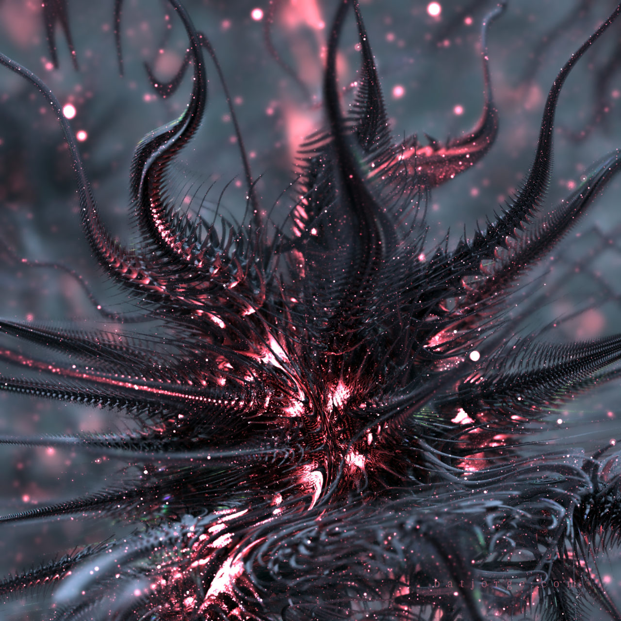 3de fractal mandelbulb dark spiked