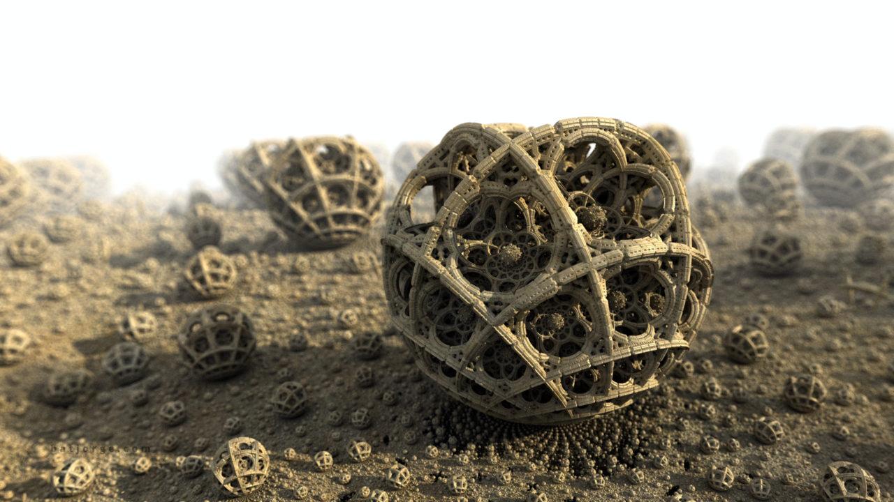 3D fractal orb. abox and menger