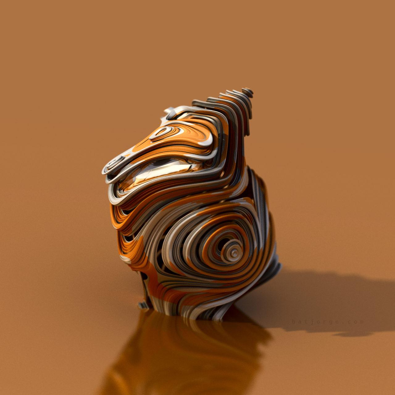 3d fractal. mandelbulb3d. abstract sculpture