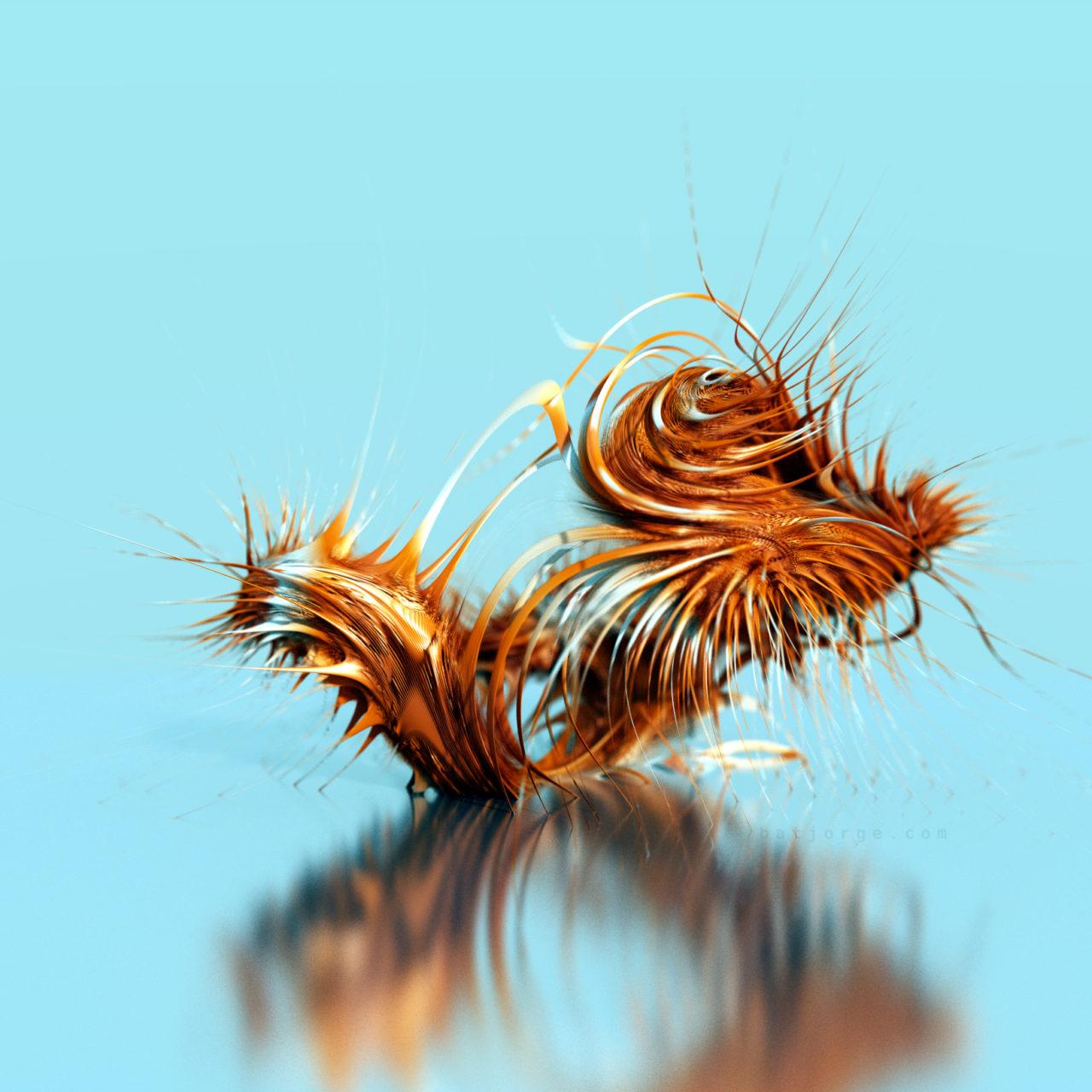 3D fractal. mandelbulber abstract spikes