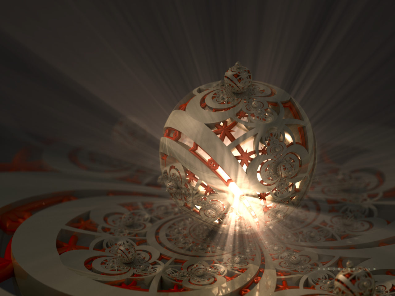 3d fractal. mandelbulb3d. dIFS. modern metallic volumetric lights