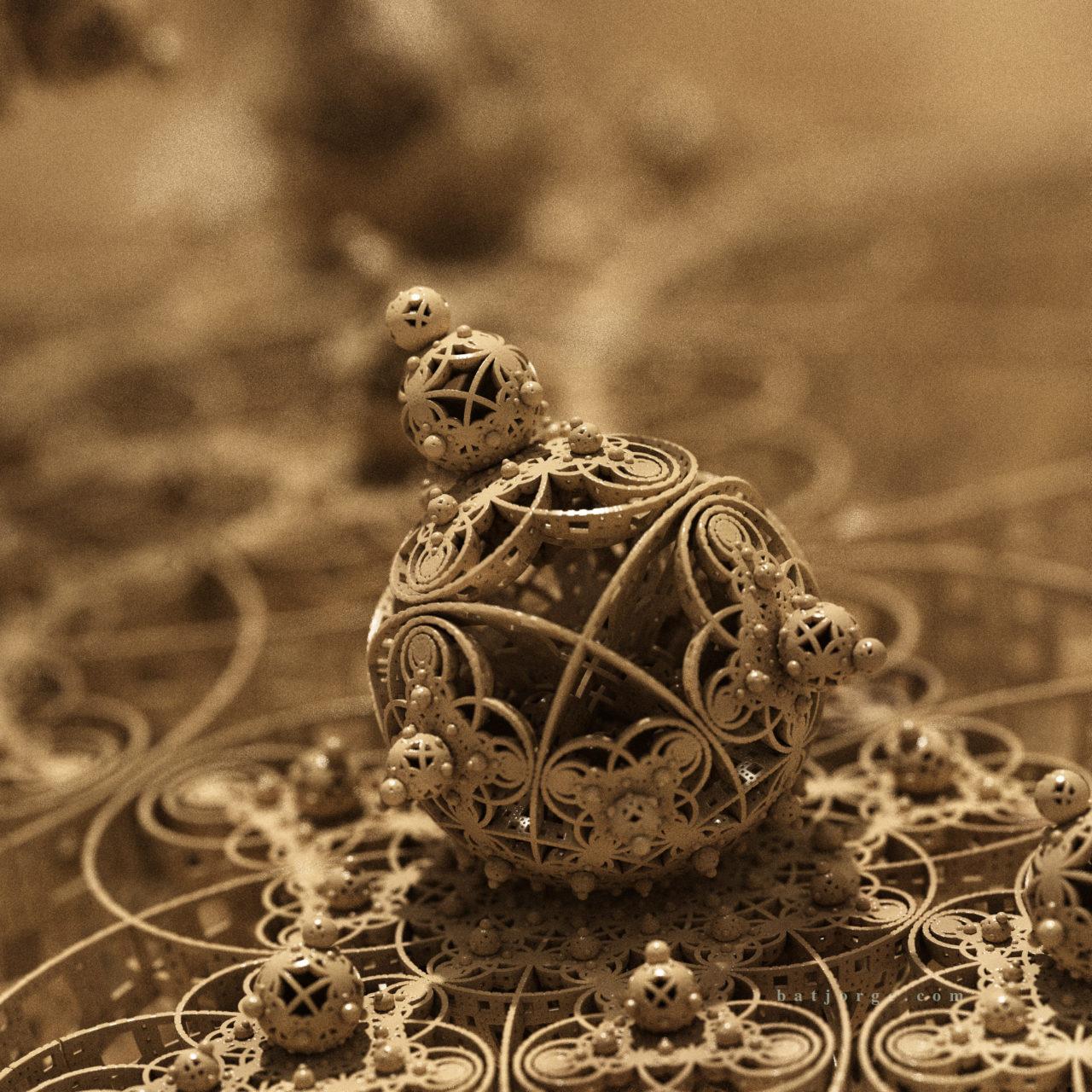 3D fractal orb. menger. mandelbulber