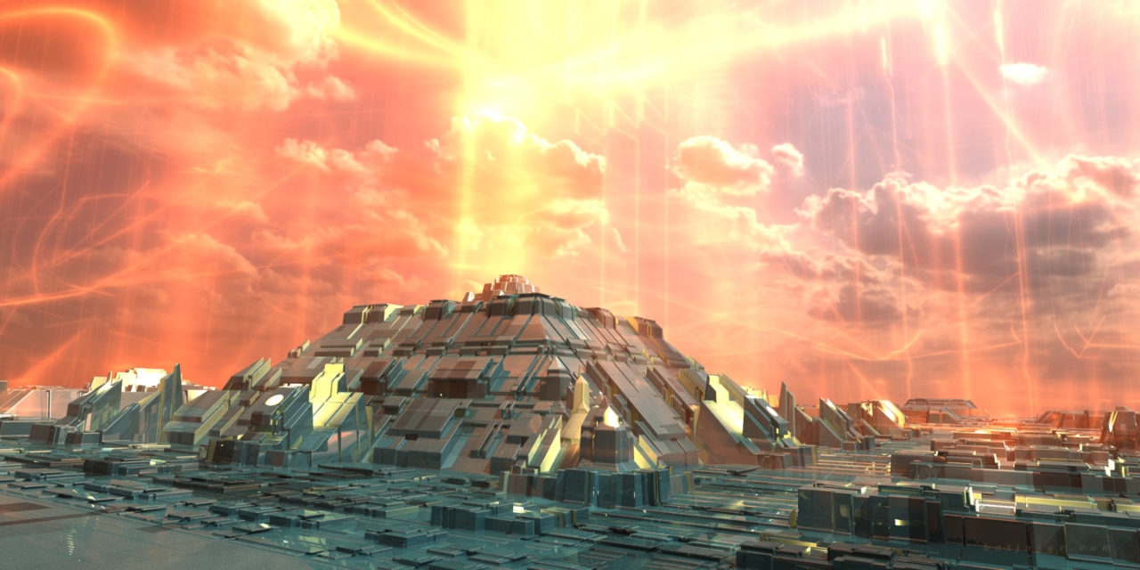 Mandelbulber fractal Mandalay Box futuristic