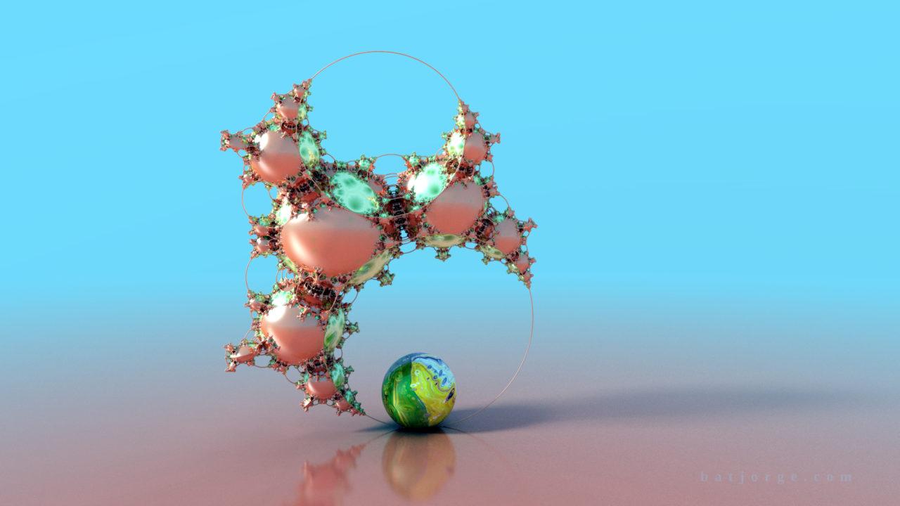 3D fractal orb. mandelbulber pseudokleinian mod 4