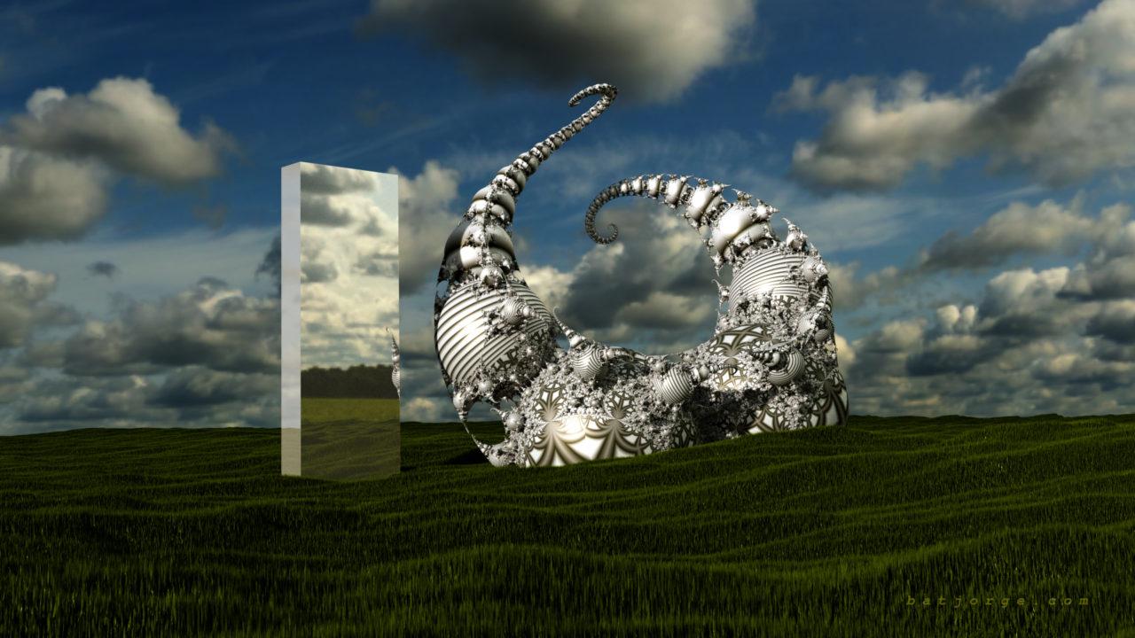 3d fractal. kleinian. mandelbulber with monolith
