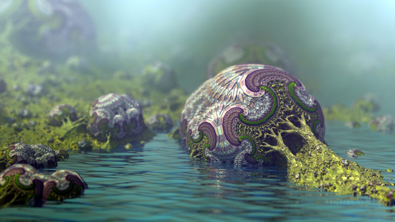 3D fractal mandelbulber amazingsurf water
