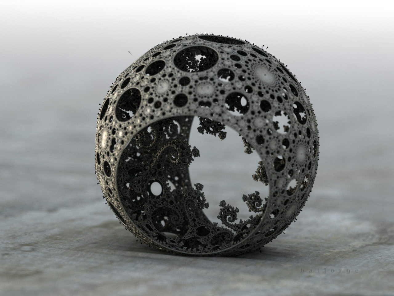 3d fractal. mandelbulb3d. kleinian sphere