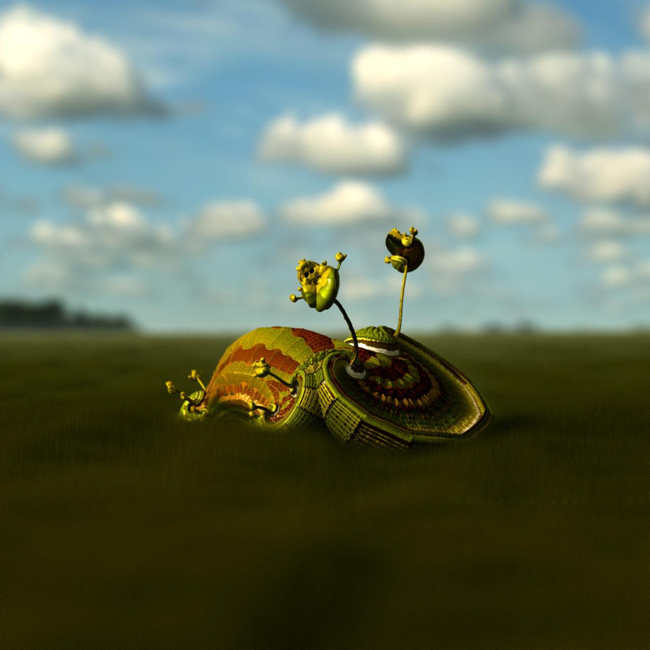 mandelbulber. pseudo-kleinian mod4 grassfield