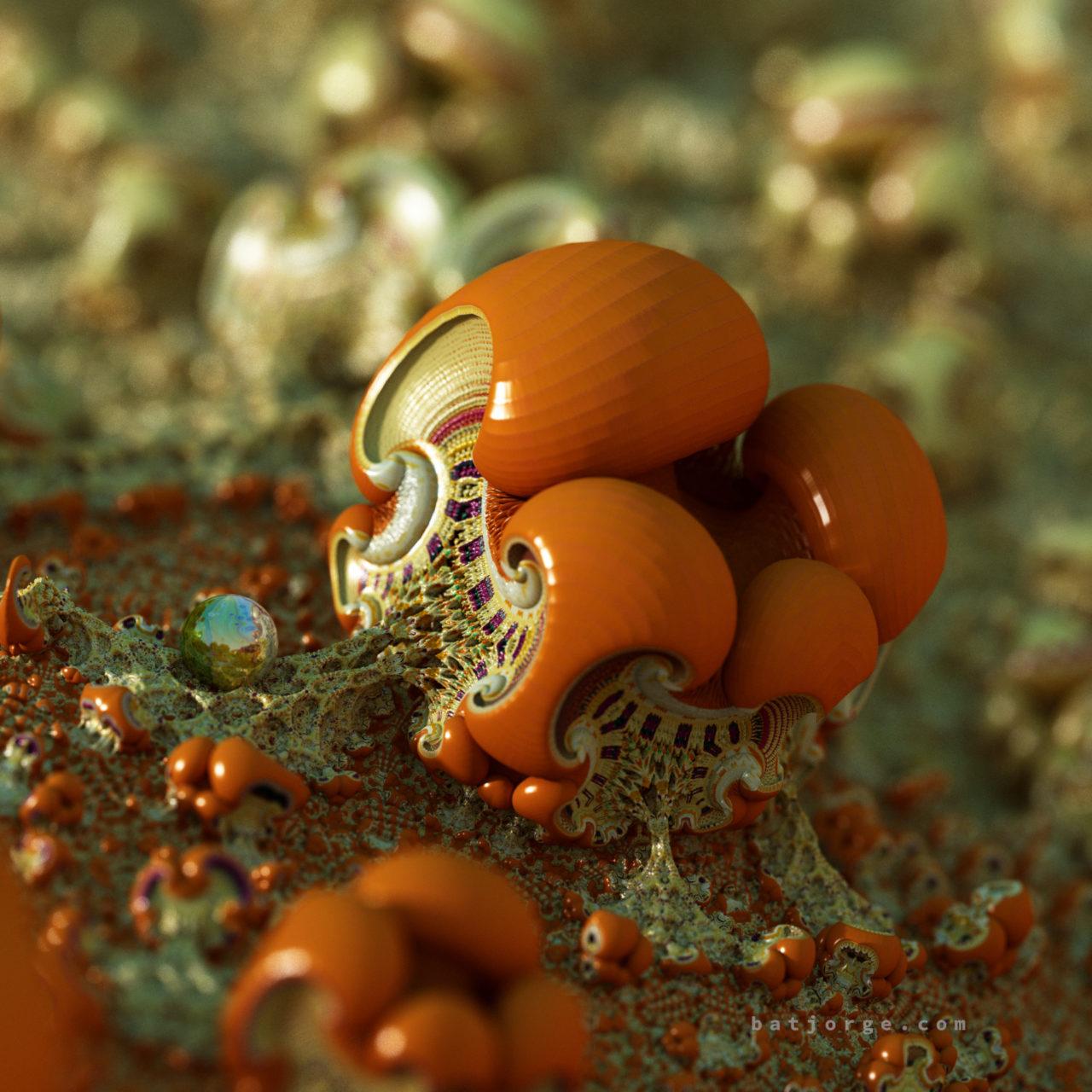 mandelbulber amazing surf.mushroom and sphere